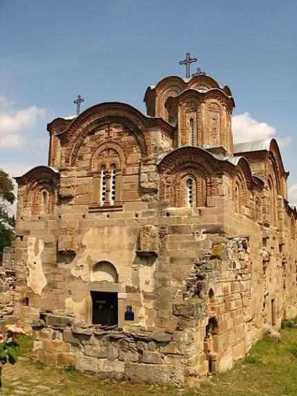 Manastir Svetog Đorđa u Starom Nagoričanu, gde se srpski kralj pričestio pred bitku i, kasnije, sahranio bugarskog cara