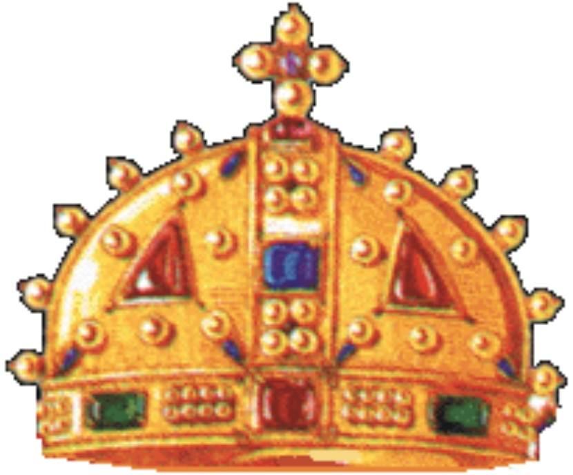 Kruna cara Dusana prema fresci iz manastira Lesnovo.