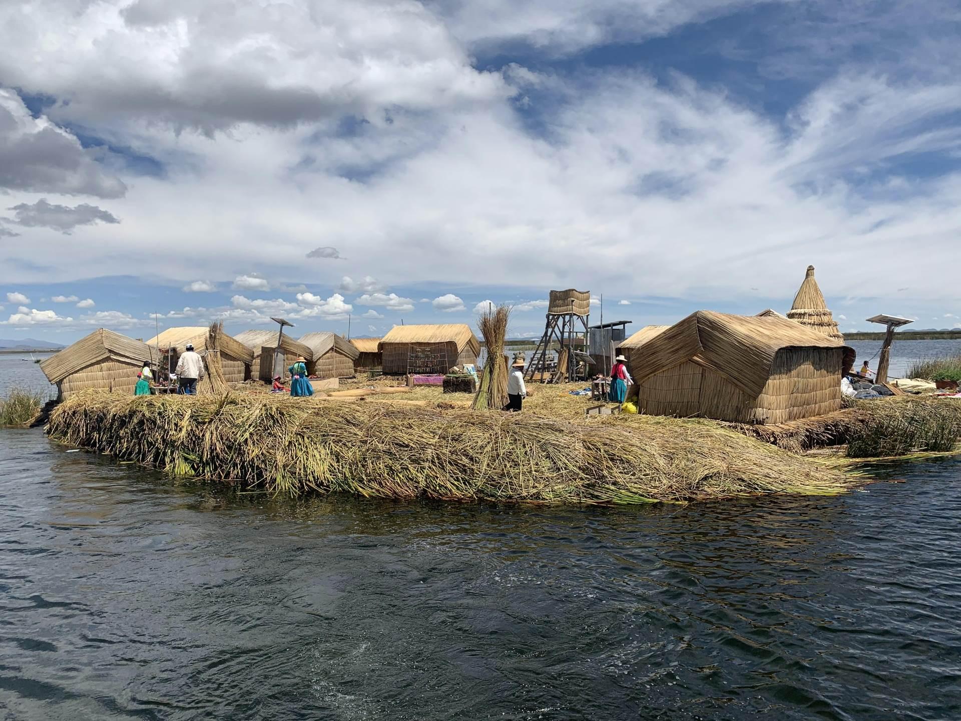 Plutajuće ostrvo Uros, jezero Titikaka
