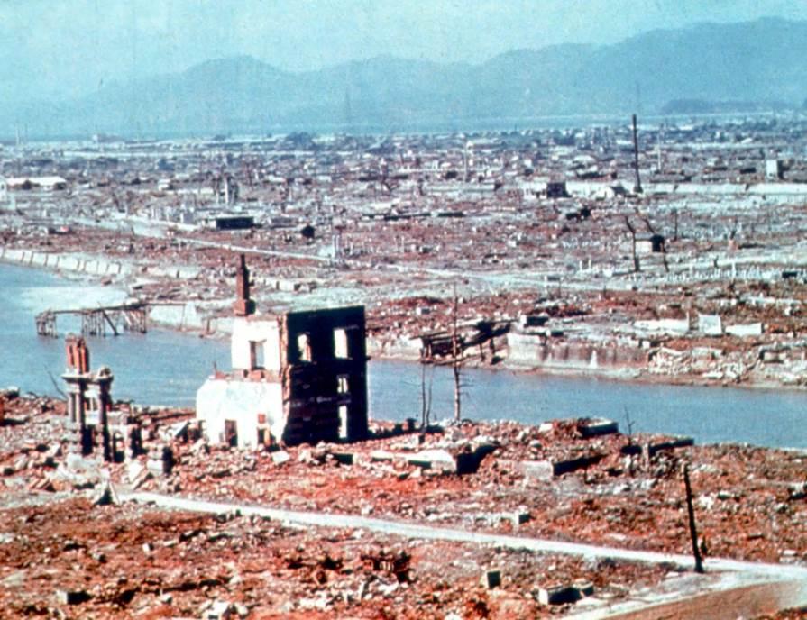 Hirošima, snimak iz vazduha, 1945. godine