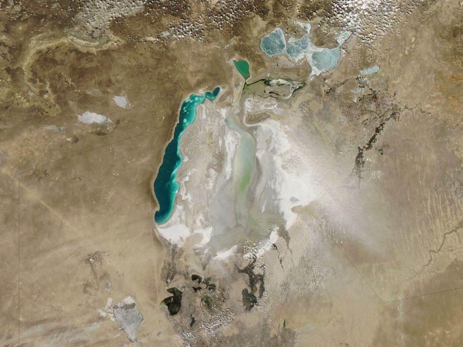Aralsko jezero, slana oluja, mart 2010. godina