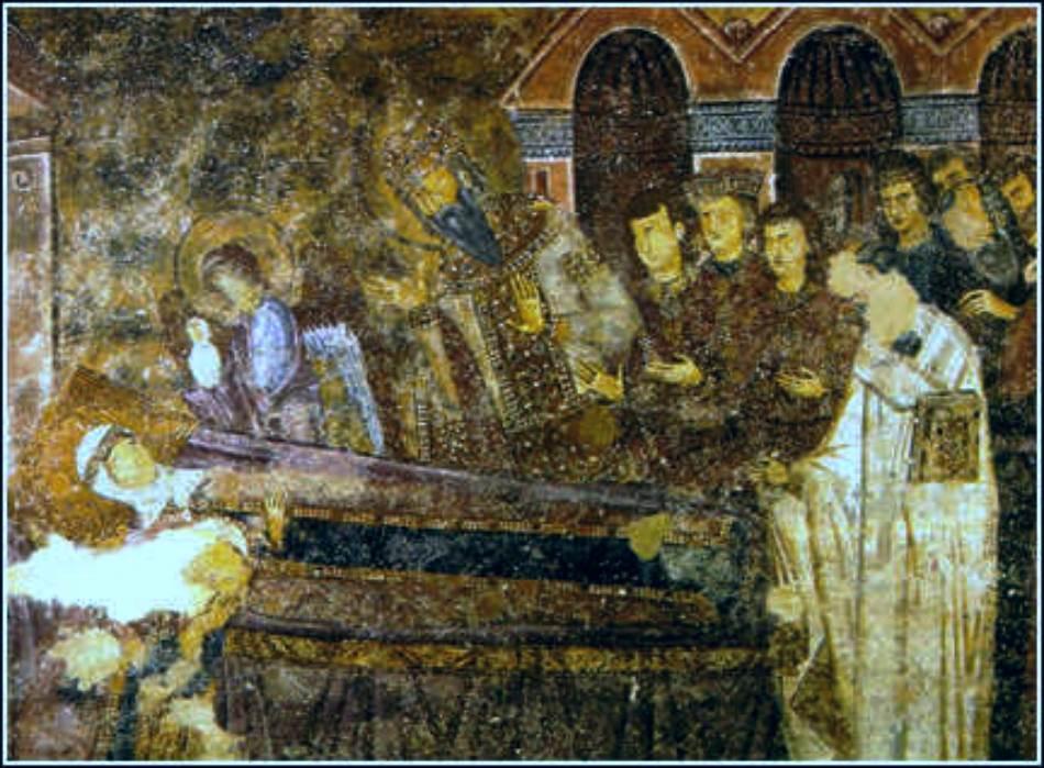 Freska Smrt Ane Dandolo u crkvi Svete Trojice