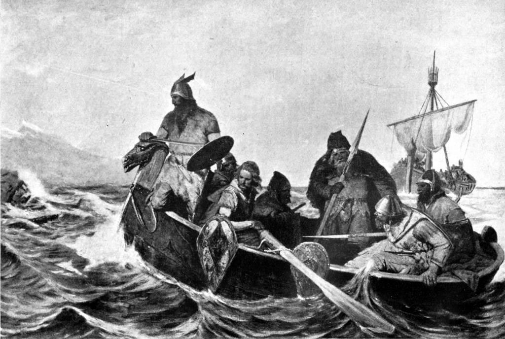 Novi dokazi ukazuju na to da su drevni Amerikanci koji su izrezbarili ovu zastrašujuću masku možda sklapali poslove na prijateljskoj osnovi sa vikinškim istraživačima.