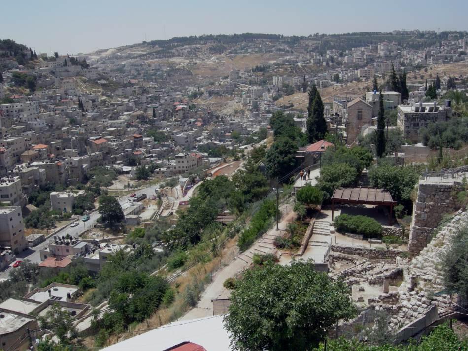 Pogled sa Starog grada u Jerusalimu, na Kedronsku dolinu