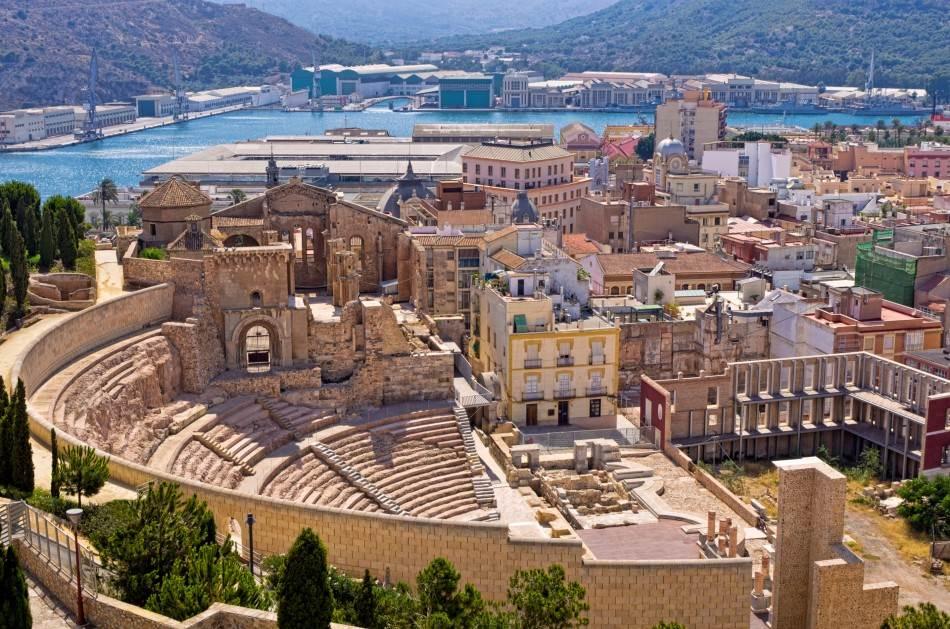 Pogled na rimski teatar u Kartageni