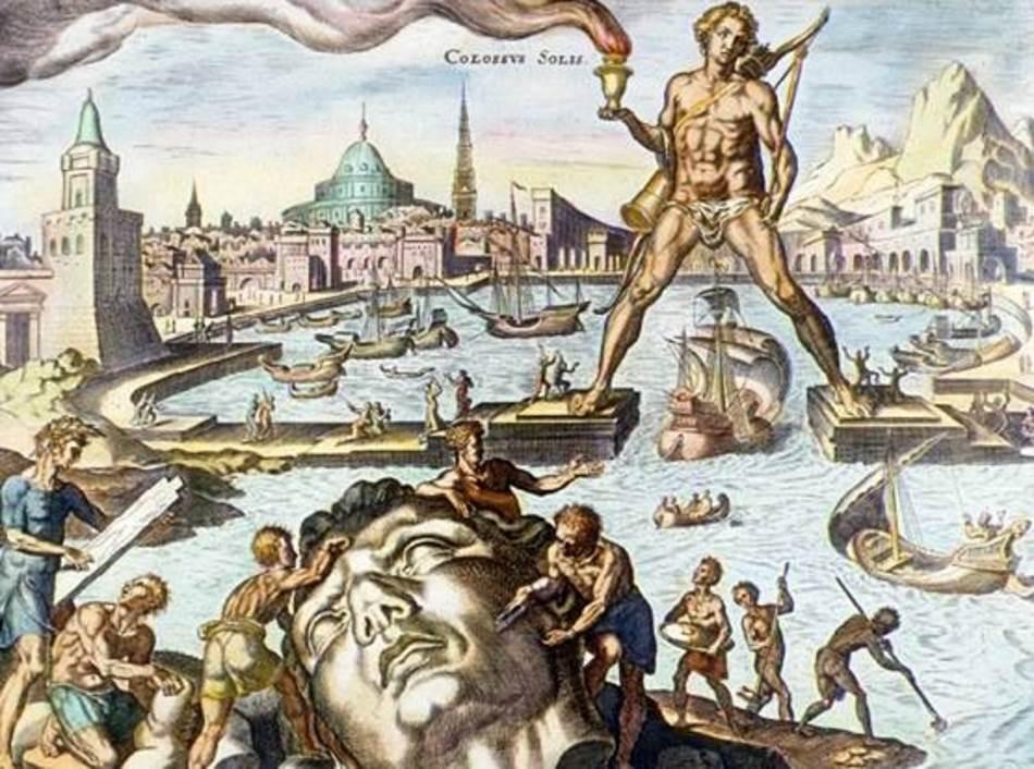 Kolos sa Rodosa, gravira iz 16. veka Martina Hemskerka, iz njegove serije o Sedam svetskih čuda.