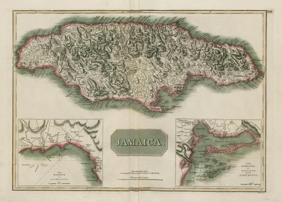 Kingston, Port Rojal, mapa iz 1817. godine.