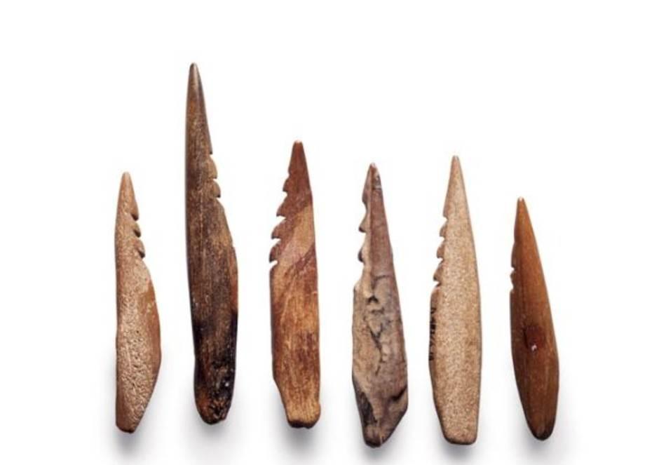Vrhovi strela od kostiju i rogova, izvađeni iz Severnog mora blizu holandske obale, svedoče o jednom načinu života koji je odavno potopljen.