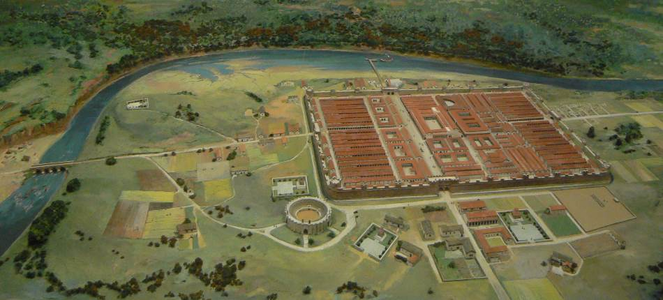 Rekonstrukcija legionarske tvrđave Deva (Čester) plus susedni amfiteatar u Britaniji.
