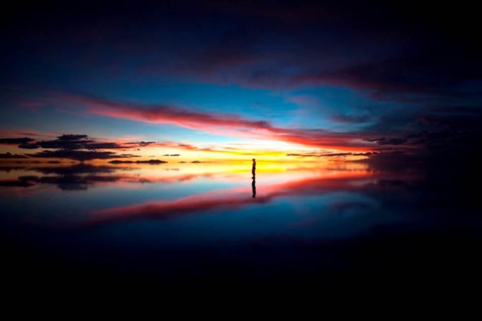 Salar de Ujuni u zoru