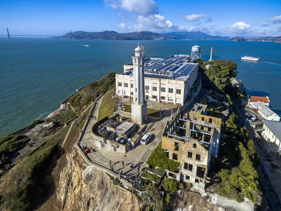 Pogled iz vazduha na Alkatraz