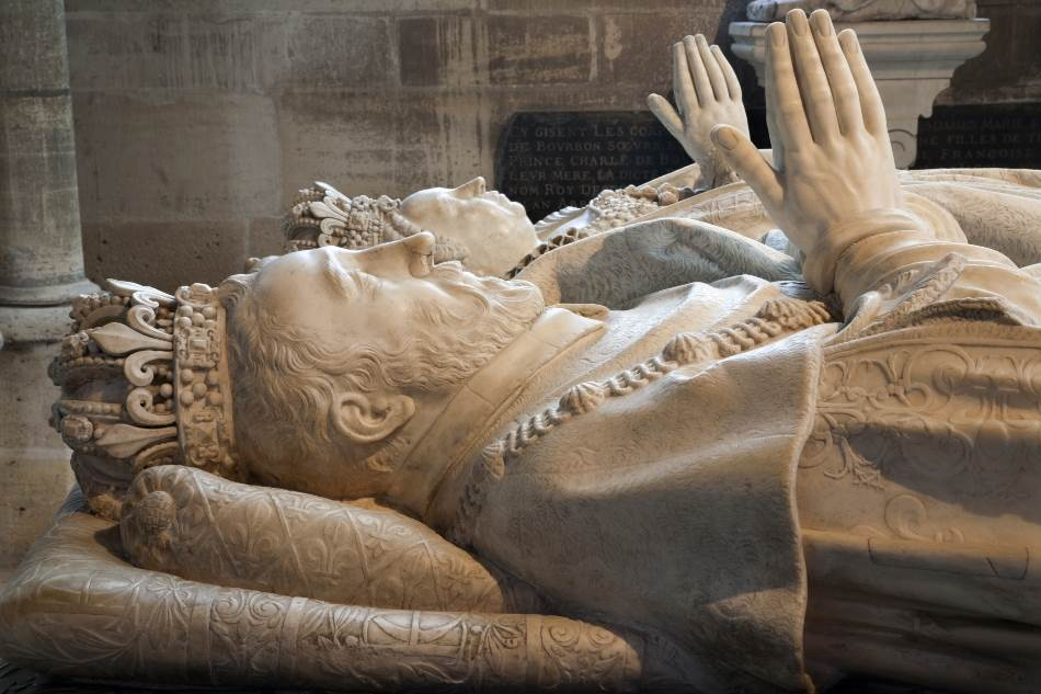 Grob Henrija II i Katarine Mediči, katedrala Sen Deni, Pariz