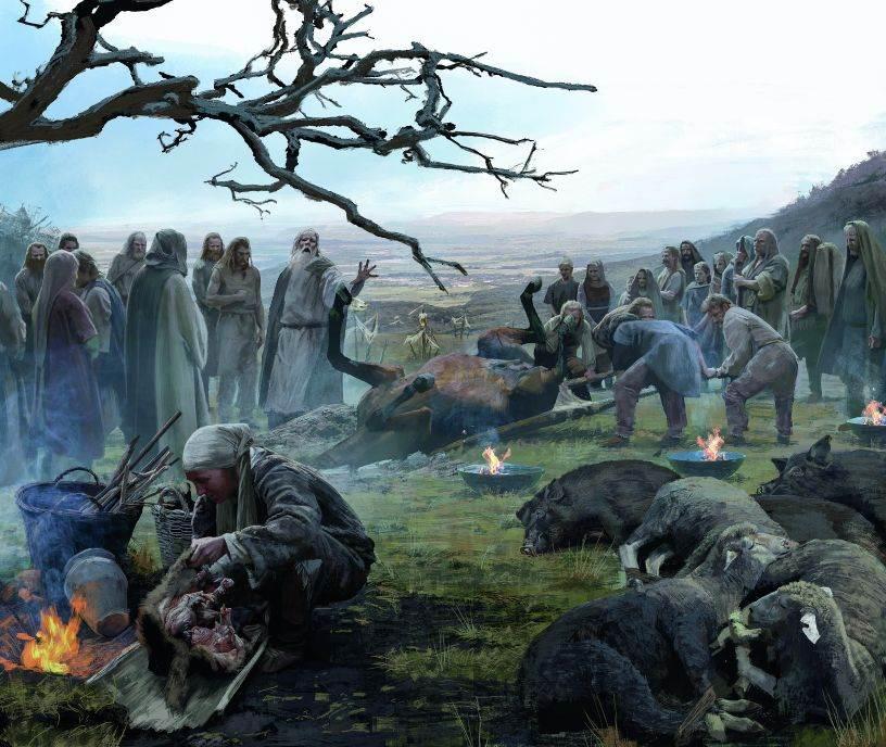 UŽASNO ŽRTVOVANJE Pola veka pre bitke kod Alezije Kelti su žrtvovali životinje pa čak i ljude na ovom vrhu brda u zapadnoj Švajcarskoj. Bili su u velikoj nevolji i prizivali su bogove u pomoć, kako pretpostavljaju arheolozi koji ovde vode istraživanje. Oko 100. godine pre n. e. Rimljani su proširili svoje područje uticaja, a Germani su pljačkali širom ovog područja. Da li je Mormon bio keltski izbeglički logor?