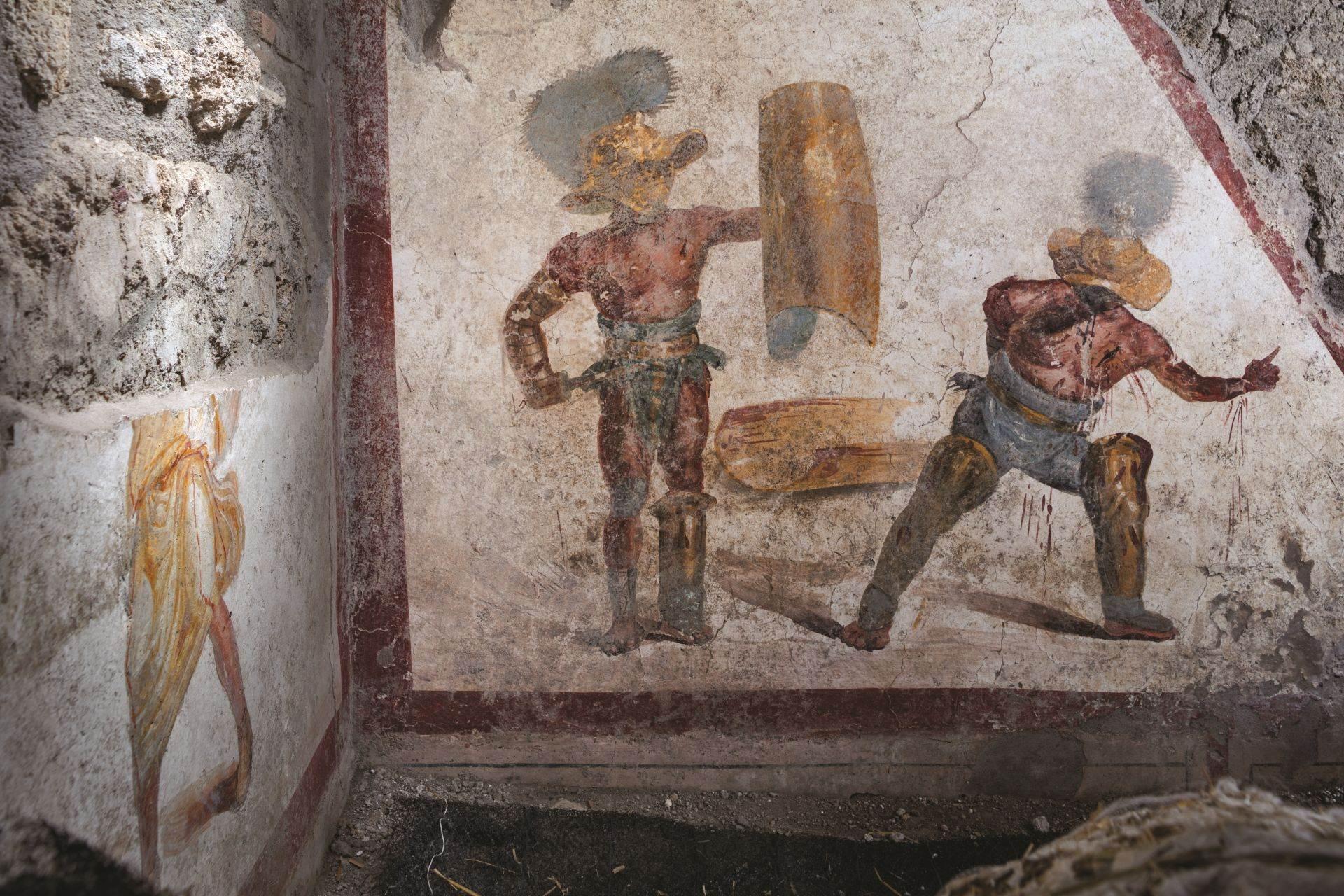 Freska iz Pompeje otkriva da su ranjeni gladijatori proglašavali predaju podignutim prstom. Pokrovitelji tada odlučili da li će im poštedeti život.