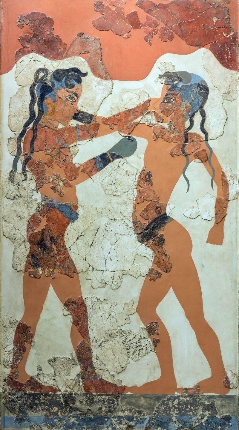 Dečaci bokseri, soba B1, objekat B, nalazište Akrotiri