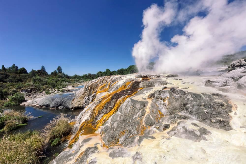 Gejzir Pohotu, Novi Zeland