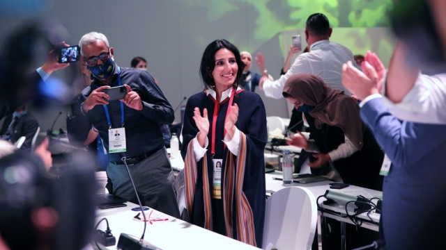 Novizabrana predsednica IUCN-a Razan Al Mubarak © IUCN IISB_ENB